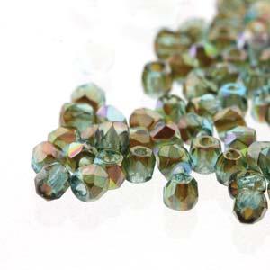 De glazen Fire Polished 2mm beads worden veel gebruikt in sieraden patronen en zijn te koop bij kralenwinkel Limited Edition in Den Haag in de kleur 60020/98535.