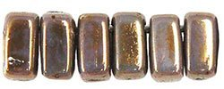 De Bricks kraal van het merk CzechMates is 3x6mm en leuk te combineren met andere two hole beads en is te koop bij kralenwinkel Limited Edition in Den Haag in de kleur 65435AL.
