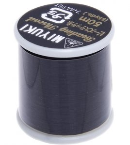 Dit Miyuki beading thread draad is perfect om te gebruiken met kleine kraaltjes en is te koop bij kralenwinkel Limited Edition in Den Haag in de kleur Black.