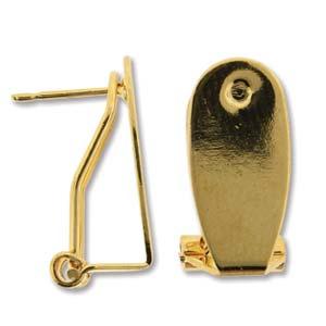 Deze oorbellen clips zijn te koop bij kralenwinkel Limited Edition in Den Haag in de kleur goud.