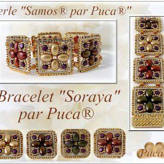 Het gratis rijgpatroon 'Soraya' is te vinden bij kralenwinkel Limited Edition in Den Haag.