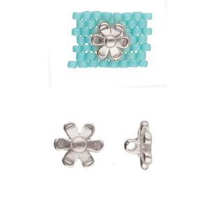 De onderdelen van Cymbal zijn ervoor gemaakt om een bepaalde kraal soort te vervangen of af te werken en zijn te koop bij kralenwinkel Limited Edition in de vorm Gerani in de kleur zilver.