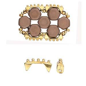 De onderdelen van Cymbal zijn ervoor gemaakt om een bepaalde kraal soort te vervangen of af te werken en zijn te koop bij kralenwinkel Limited Edition in de vorm Keramoti in de kleur goud.
