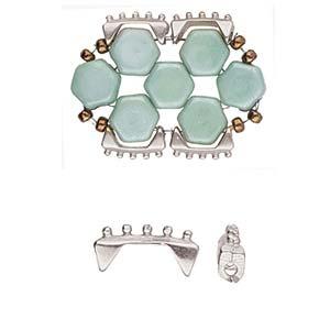 De onderdelen van Cymbal zijn ervoor gemaakt om een bepaalde kraal soort te vervangen of af te werken en zijn te koop bij kralenwinkel Limited Edition in de vorm Keramoti in de kleur zilver.