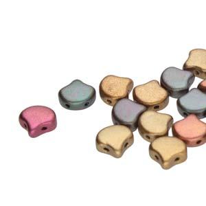 De Ginko glas kraal van Matubo heeft twee gaten en is te koop bij kralenwinkel Limited Edition in Den Haag in de kleur 00030-01640.