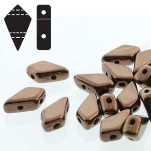 De Kite bead is een glaskraal met twee gaten in de vorm van een vlieger en is te koop bij kralenwinkel Limited Edition in de kleur fine 23980.-14415.