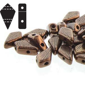 De Kite bead is een glaskraal met twee gaten in de vorm van een vlieger en is te koop bij kralenwinkel Limited Edition in de kleur fine 23980.-14415F.