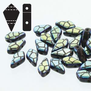De Kite bead is een glaskraal met twee gaten in de vorm van een vlieger en is te koop bij kralenwinkel Limited Edition in de kleur fine 23980-28703CR.
