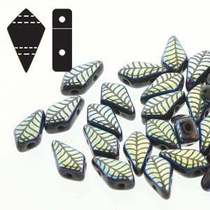 De Kite bead is een glaskraal met twee gaten in de vorm van een vlieger en is te koop bij kralenwinkel Limited Edition in de kleur fine 23980-28703LA.