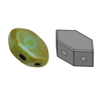 De Paros® par Puca® van het merk les Perles par Puca® is te koop bij kralenwinkel Limited Edition in Den Haag in de kleur Opaque Aqua Picasso.