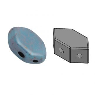 De Paros® par Puca® van het merk les Perles par Puca® is te koop bij kralenwinkel Limited Edition in Den Haag in de kleur Opaque Aqua Bronze.