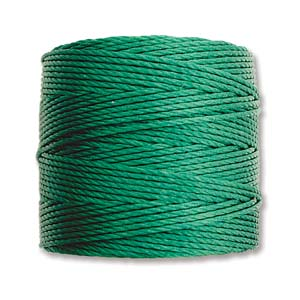 S-Lon bead cord Tex 210: Green.