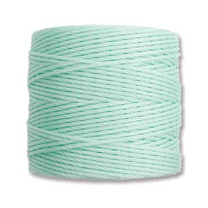 S-Lon bead cord Tex 210: Pastel Mint Green.