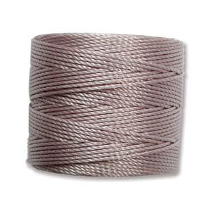 S-Lon bead cord Tex 210: Silver.