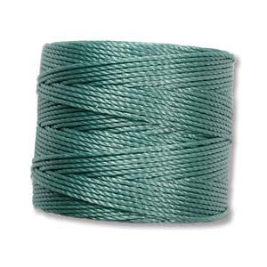 S-Lon bead cord Tex 210: Vintage Jade.
