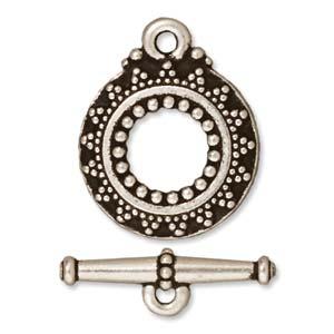 Dit slot van Tierra Cast is te koop bij kralenwinkel Limited Edition in Den Haag in de kleur antiek zilver.