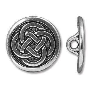 Deze Celtic Button van Tierra Cast is te koop bij kralenwinkel Limited Edition in Den Haag in de kleur antiek zilver.
