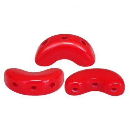 De Arcos® par Puca® van het merk les Perles par Puca® is te koop bij kralenwinkel Limited Edition in Den Haag in de kleur Opaque Coral Red.