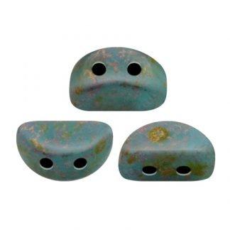 De Kos® par Puca® van het merk les Perles par Puca® is te koop bij kralenwinkel Limited Edition in Den Haag in de kleur Opaque Aqua Deep Gold.