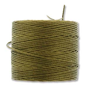 S-Lon bead cord Tex 210: Antique Gold.