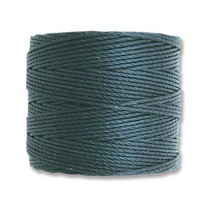 S-Lon bead cord Tex 210: Dark Teal.