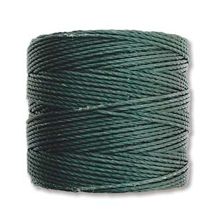 S-Lon bead cord Tex 210: Evergreen.