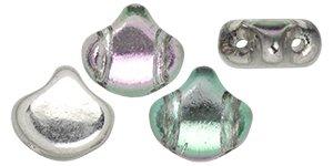 De Ginko glas kraal van Matubo heeft twee gaten en is te koop bij kralenwinkel Limited Edition in Den Haag in de kleur S11C26536.