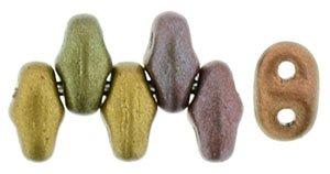 De MiniDuo van Matubo heeft twee gaatjes en is te koop bij kralenwinkel Limited Edition in Den Haag in de kleur 01640CR.