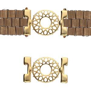 De onderdelen van Cymbal zijn ervoor gemaakt om een bepaalde kraal soort te vervangen of af te werken en zijn te koop bij kralenwinkel Limited Edition in de vorm Detis in de kleur goud.