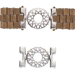 De onderdelen van Cymbal zijn ervoor gemaakt om een bepaalde kraal soort te vervangen of af te werken en zijn te koop bij kralenwinkel Limited Edition in de vorm Detis in de kleur zilver.