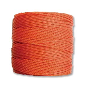 S-Lon bead cord Tex 210: Orange.
