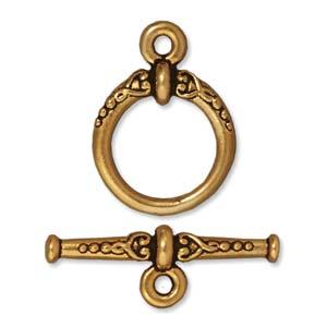 Dit slot van Tierra Cast is te koop bij kralenwinkel Limited Edition in Den Haag in de kleur antiek goud.