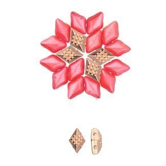 De onderdelen van Cymbal zijn ervoor gemaakt om een bepaalde kraal soort te vervangen of af te werken en zijn te koop bij kralenwinkel Limited Edition in de vorm Adamas in de kleur ros egoud.
