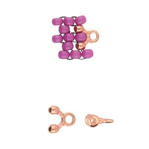 De onderdelen van Cymbal zijn ervoor gemaakt om een bepaalde kraal soort te vervangen of af te werken en zijn te koop bij kralenwinkel Limited Edition in de vorm Alona in de kleur rose goud.