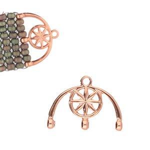 De onderdelen van Cymbal zijn ervoor gemaakt om een bepaalde kraal soort te vervangen of af te werken en zijn te koop bij kralenwinkel Limited Edition in de vorm Amatos III in de kleur rose goud.