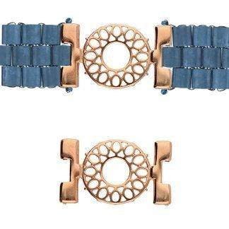 De onderdelen van Cymbal zijn ervoor gemaakt om een bepaalde kraal soort te vervangen of af te werken en zijn te koop bij kralenwinkel Limited Edition in de vorm Detis in de kleur rose goud.