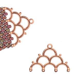 De onderdelen van Cymbal zijn ervoor gemaakt om een bepaalde kraal soort te vervangen of af te werken en zijn te koop bij kralenwinkel Limited Edition in de vorm Lakos IV in de kleur rose goud.