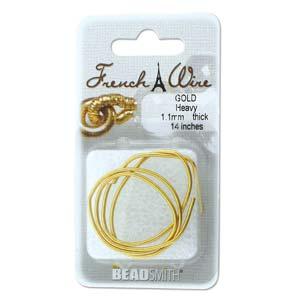 Dit French Wire word vaak gebruikt bij het parelknopen om de draad te beschermen en is te koop bij kralenwinkel Limited Edition in de maat 0.9mm in de kleur goud.
