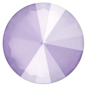 Deze ronde Rivoli steen van Swarovski heeft een puntige achterkant en is te koop bij kralenwinkel Limited Edition in Den Haag in de maat 14mm in de kleur Crystal Lilac.