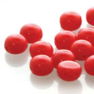 Deze 8mm Candy bead van Preciosa heeft twee gaten en is te koop bij kralenwinkel Limited Edition in Den Haag in de kleur 93180.