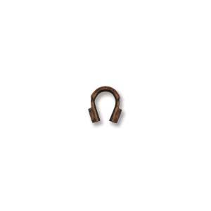 Deze draad beschermer of wire guardian kan gebruikt worden om het einde van de draad te beschermen en is te koop bij kralenwinkel Limited Edition in de maat 4x5mm in de kleur antiek koper.