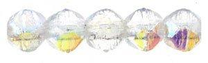 De English Cut glaskraal is een ronde kraal een rand, is 3mm groot en te koop bij kralenwinkel Limited Edition in de kleur X0003.