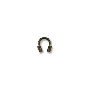Deze draad beschermer of wire guardian kan gebruikt worden om het einde van de draad te beschermen en is te koop bij kralenwinkel Limited Edition in de maat 4x5mm in de kleur antiek brons.