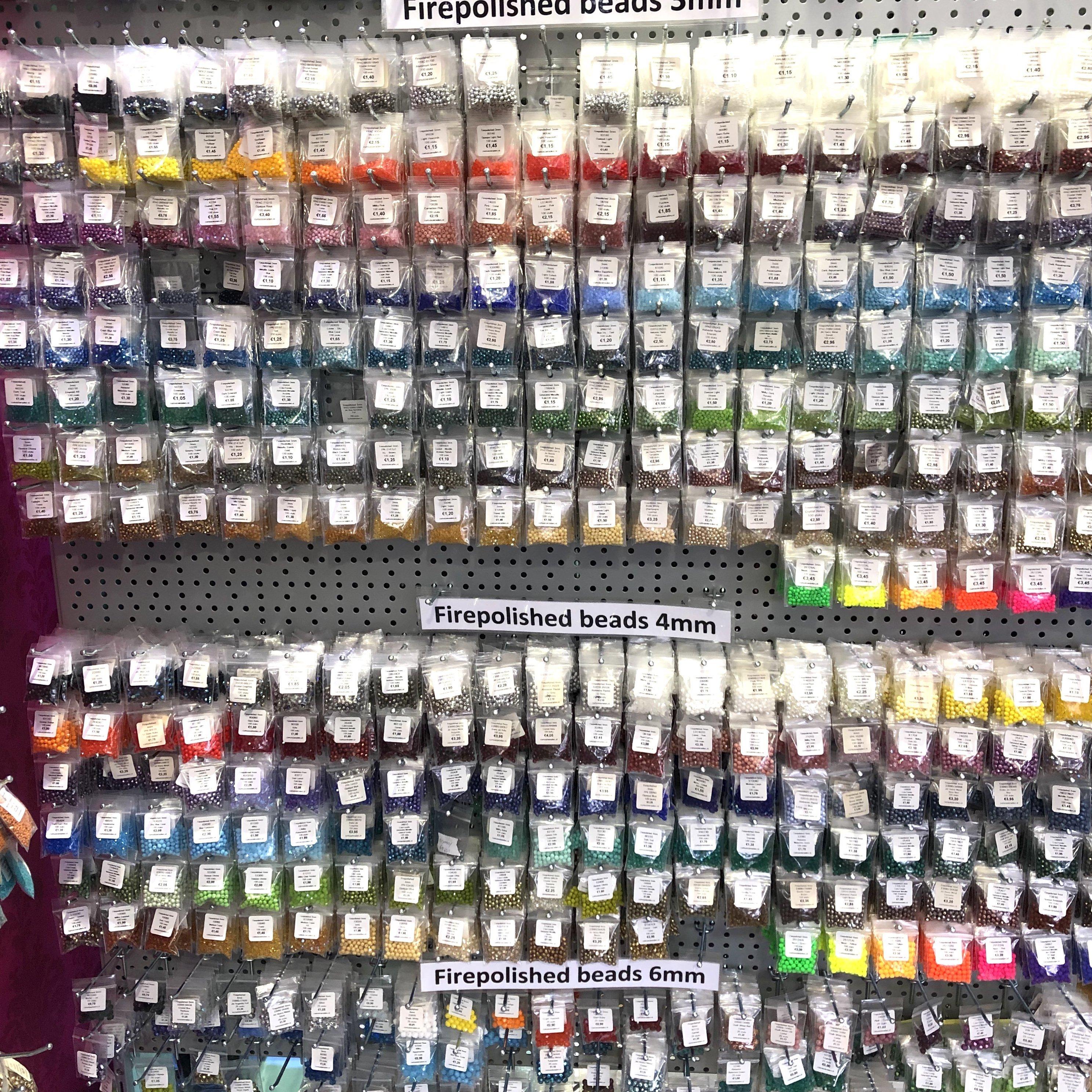 Nieuwe kleuren Firepolish en ronde glaskralen