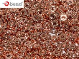 De O bead is leuk te gebruiken in patroontjes tussen andere kralen en is te koop bij kralenwinkel Limited Edition in Den Haag in de kleur 23980-27100.