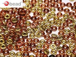 De O bead is leuk te gebruiken in patroontjes tussen andere kralen en is te koop bij kralenwinkel Limited Edition in Den Haag in de kleur 23980-98542.
