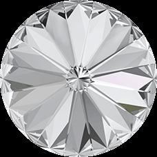 Deze ronde Rivoli steen van Swarovski heeft een puntige achterkant en is te koop bij kralenwinkel Limited Edition in Den Haag in de maat 10mm in de kleur Crystal Foiled.