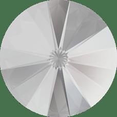 Deze ronde Rivoli steen van Swarovski heeft een puntige achterkant en is te koop bij kralenwinkel Limited Edition in Den Haag in de maat 12mm in de kleur Crystal.
