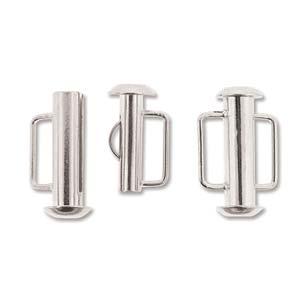Dit magneetslot heeft twee uiteinden waaraan je een bandje vast kan maken en is te koop bij kralenwinkel Limited Edition in Den Haag in de kleur zilver in de maat 16.5mm.