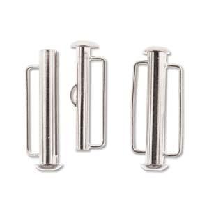 Dit magneetslot heeft twee uiteinden waaraan je een bandje vast kan maken en is te koop bij kralenwinkel Limited Edition in Den Haag in de kleur zilver in de maat 26.5mm.